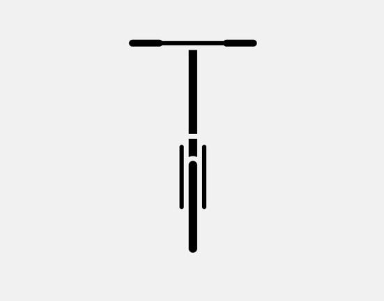S handlebars on small folding bike