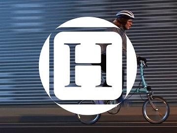 huffpost logo folding bike